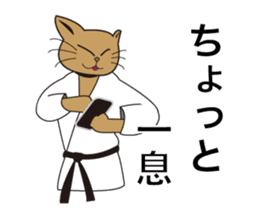 "Karate neko""Gon"" sticker #4369096"