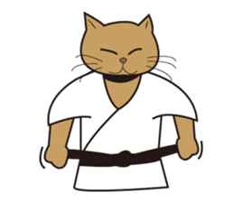 "Karate neko""Gon"" sticker #4369098"