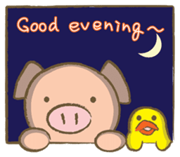 Bukke the piglet 2 (English version) sticker #4393858
