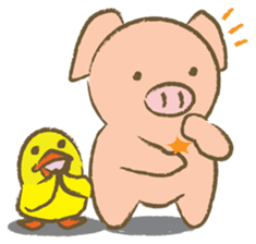Bukke the piglet 2 (English version) sticker #4393870