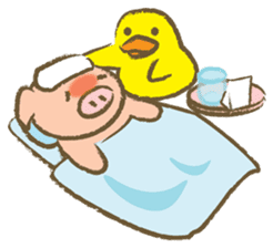 Bukke the piglet 2 (English version) sticker #4393878