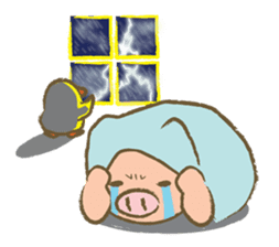 Bukke the piglet 2 (English version) sticker #4393879