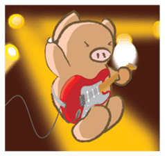 Bukke the piglet 2 (English version) sticker #4393880
