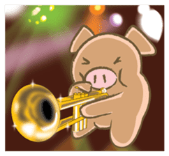 Bukke the piglet 2 (English version) sticker #4393881