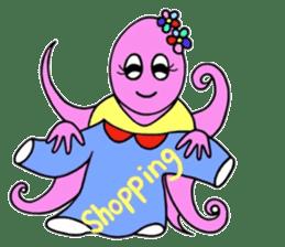 Elegant Octopus sticker #4394546