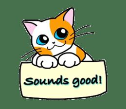 """OK"" Cats(English ver.) sticker #4395140"