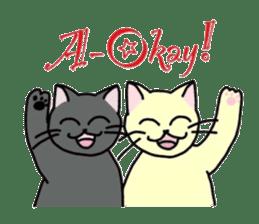 """OK"" Cats(English ver.) sticker #4395161"