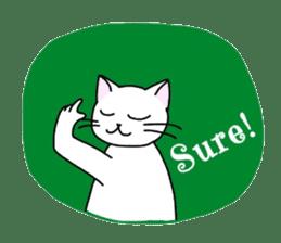 """OK"" Cats(English ver.) sticker #4395162"