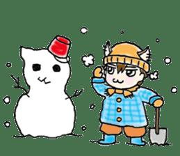 Cat craftsman sticker #4395492
