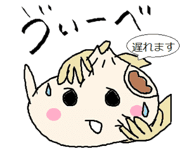 Nikuman-kun talking Finnish sticker #4398693