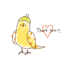 Stylish small birds (English) sticker #4412160