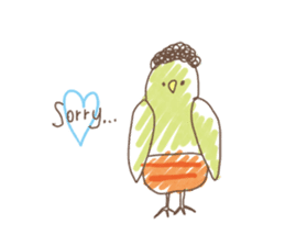 Stylish small birds (English) sticker #4412161