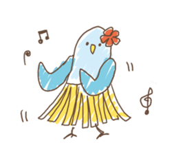 Stylish small birds (English) sticker #4412173
