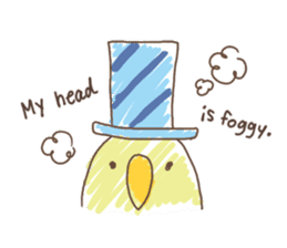 Stylish small birds (English) sticker #4412177