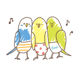 Stylish small birds (English) sticker #4412188