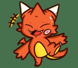 Neryu Dragon-cat sticker #4413153