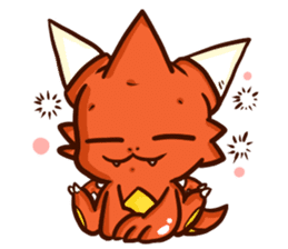 Neryu Dragon-cat sticker #4413183