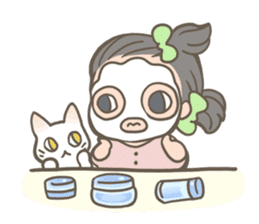 Shiro & Momo sticker #4414458
