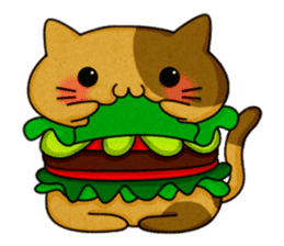 Yummy BurgerCat sticker #4415032