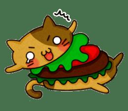 Yummy BurgerCat sticker #4415035