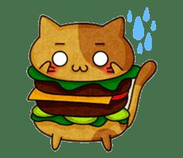 Yummy BurgerCat sticker #4415036