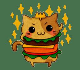 Yummy BurgerCat sticker #4415037