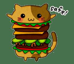 Yummy BurgerCat sticker #4415039