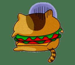 Yummy BurgerCat sticker #4415041
