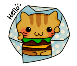 Yummy BurgerCat sticker #4415042