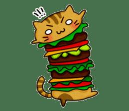 Yummy BurgerCat sticker #4415043