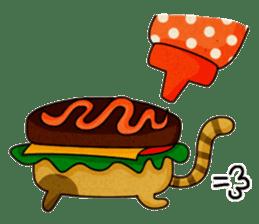 Yummy BurgerCat sticker #4415046