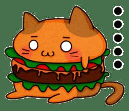 Yummy BurgerCat sticker #4415048