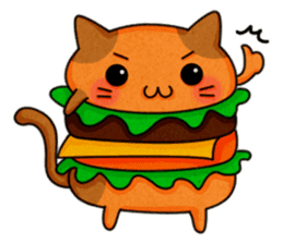 Yummy BurgerCat sticker #4415049