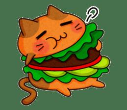 Yummy BurgerCat sticker #4415050