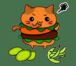 Yummy BurgerCat sticker #4415051