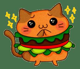Yummy BurgerCat sticker #4415052