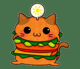 Yummy BurgerCat sticker #4415054