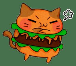 Yummy BurgerCat sticker #4415055