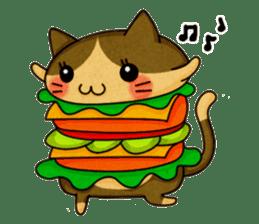 Yummy BurgerCat sticker #4415056