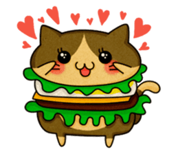 Yummy BurgerCat sticker #4415057