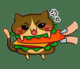 Yummy BurgerCat sticker #4415058