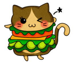 Yummy BurgerCat sticker #4415059