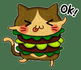 Yummy BurgerCat sticker #4415060
