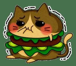 Yummy BurgerCat sticker #4415061