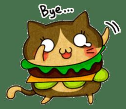 Yummy BurgerCat sticker #4415062