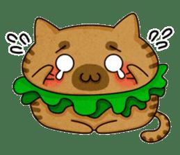 Yummy BurgerCat sticker #4415064