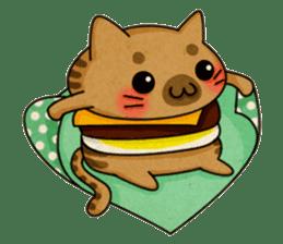 Yummy BurgerCat sticker #4415065