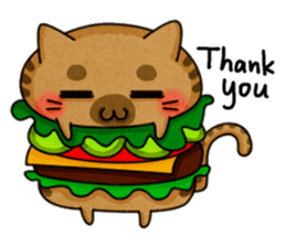 Yummy BurgerCat sticker #4415066