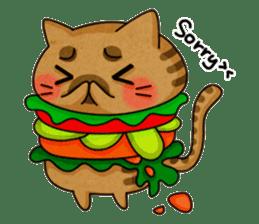 Yummy BurgerCat sticker #4415067