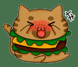 Yummy BurgerCat sticker #4415068